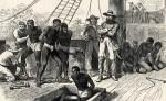 Перевозка рабов из Африки. Гравюра викторианской эпохи.
