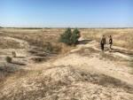 Ученые исследуют заброшенный средневековый канал, оазис Отрар, Казахстан. Credit: University of Lincoln