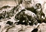 Люди и пещерные медведи. Рисунок Зденека Буриана.