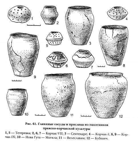2_Керамика и пряслица пражской культуры
