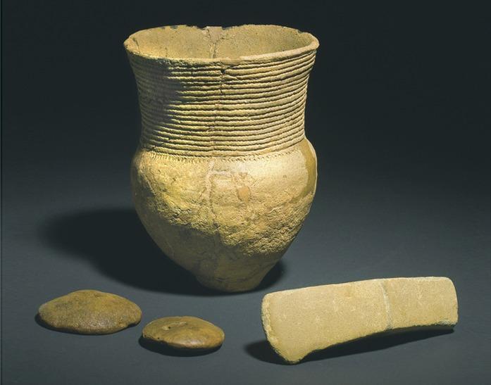 Изделия культуры шнуровой керамики. Источник: https://bigenc.ru/archeology/text/4944771