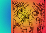 Битва между инками (справа) и народом мапуче. Рисунок 1615 года  Felipe Guaman Poma de Ayala / Wikimedia Commons