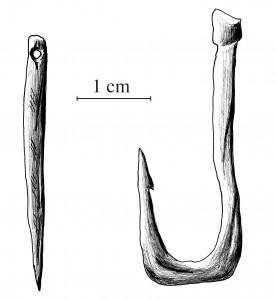 Костяные игла и рыболовный крюк (Автор: user:Calame, Общественное достояние, https://commons.wikimedia.org/w/index.php?curid=349697)