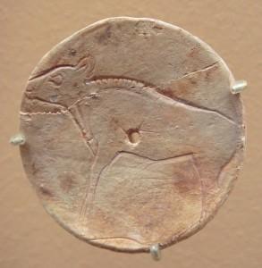 Bison_on_plaque_Bedeilhac_grottoe_Ariege
