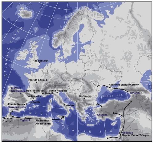 Genofond_2020_Kuzmin_Earliest_Sites_Europe_Figure_1