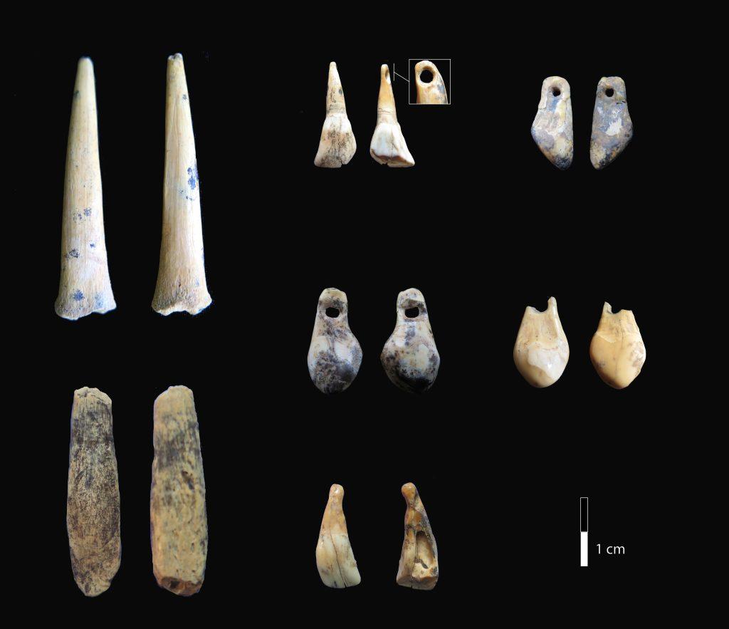 Артефакты из Денисовой пещеры. Credit: Katerina Douka