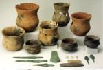 Предметы из захоронения комплекса колоковидных кубков из La Sima III. Музей Нумантино.