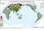 Карта гаплогруппы N в Евразии.