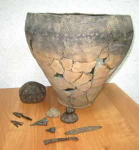 Находки с памятников дьяковской культуры
