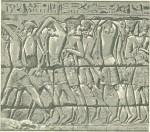 Филистимские воины, взятые в плен фараоном Рамсесом III.