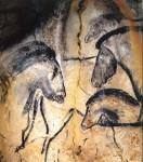 Франция, пещера Шове. Лошади. – 32-26 тыс. лет назад.