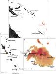 Архипелаг Вануату и остров Эфате с местами сбора образцов (Lipson et al., 2020)