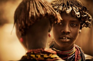 Portraits of tribal life, Omo region, Ethiopia - 2013