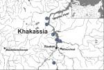 Расположение тагарской археологической культуры, места взятия образцов.