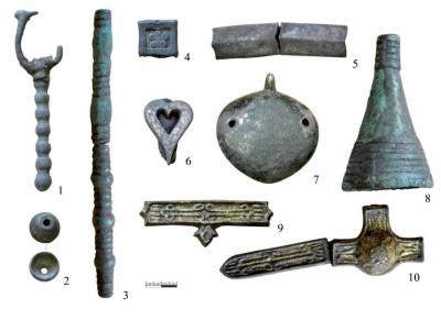 Находки из кургана 9 захоронения Уелги, Восточный Урал (фото С.Г.Боталов)