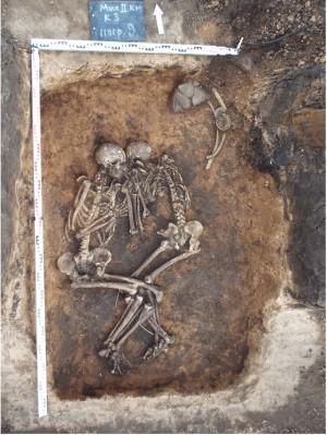 Парное захоронение, ассоциированное со срубной культурой, в Самарской области (Spyrou et al.)