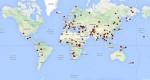 Карта 2014 г. с сайта Simons Genome Diversity Project (SGDP)
