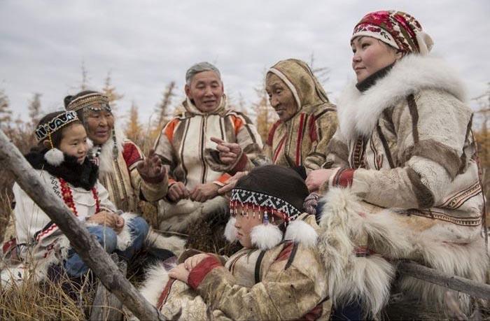 Нганасаны, народ уральской языковой семьи.